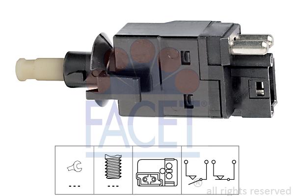 Contacteur de feu stop FACET 7.1088 (X1)