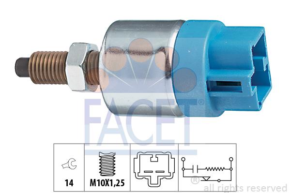 Contacteur de feu stop FACET 7.1089 (X1)