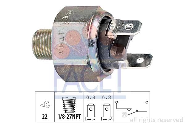 Contacteur de feu stop FACET 7.1101 (X1)