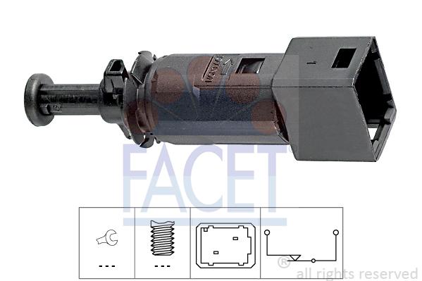 Contacteur de feu stop FACET 7.1148 (X1)