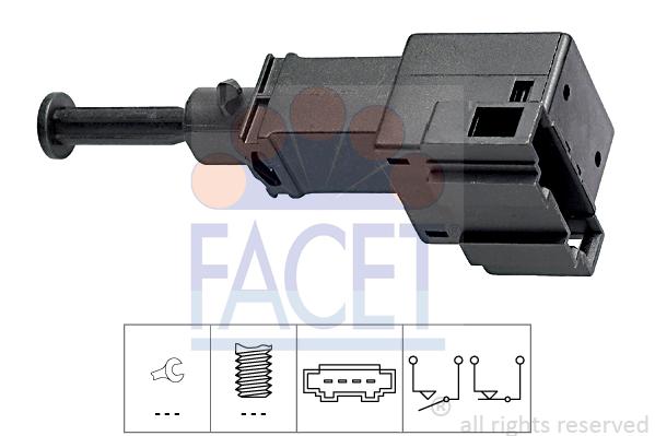 Contacteur de feu stop FACET 7.1151 (X1)