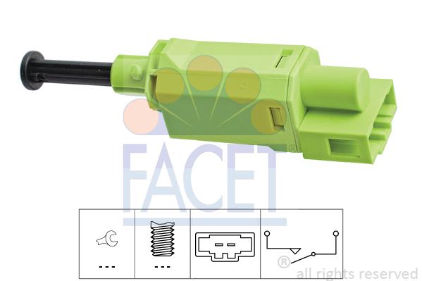 Commande, embrayage (régulateur de vitesse) FACET 7.1198 (X1)