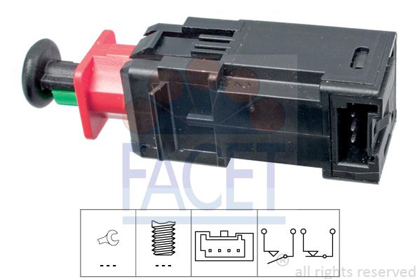 Contacteur de feu stop FACET 7.1208 (X1)