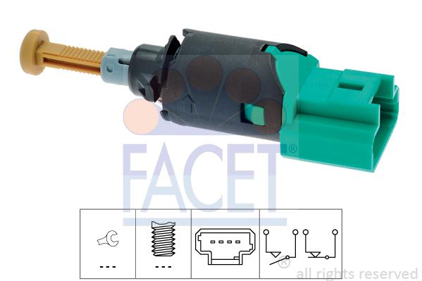 Contacteur de feu stop FACET 7.1213 (X1)