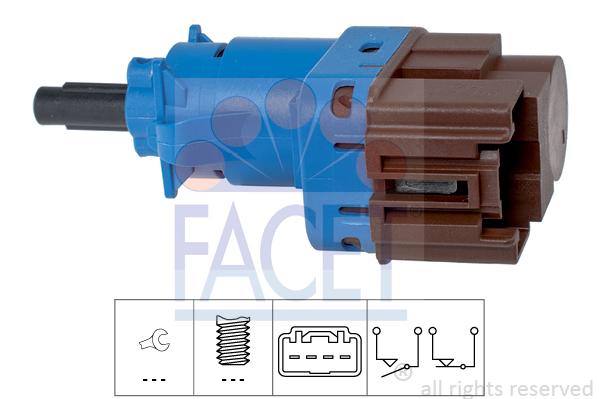 Contacteur de feu stop FACET 7.1247 (X1)