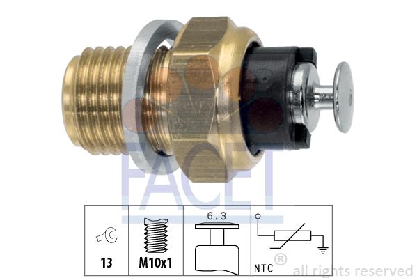 Capteur, température d'huile FACET 7.3093 (X1)