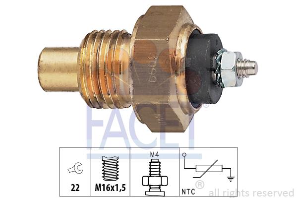 Capteur, température d'huile FACET 7.3099 (X1)