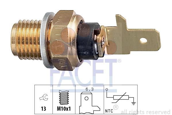 Capteur, température d'huile FACET 7.3154 (X1)