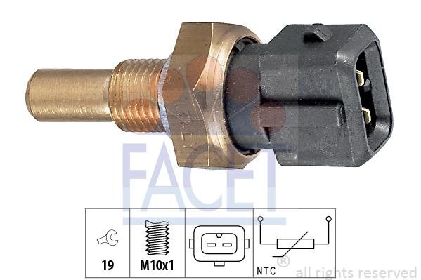 Capteur, température d'huile FACET 7.3255 (X1)