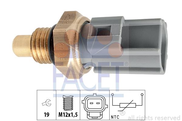 Capteur, température de carburant FACET 7.3281 (X1)