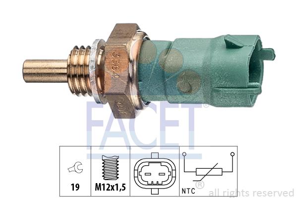 Capteur, température de carburant FACET 7.3364 (X1)