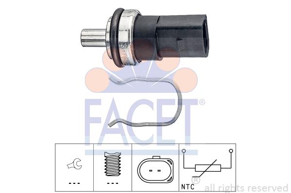 Capteur, température de carburant FACET 7.3376 (X1)