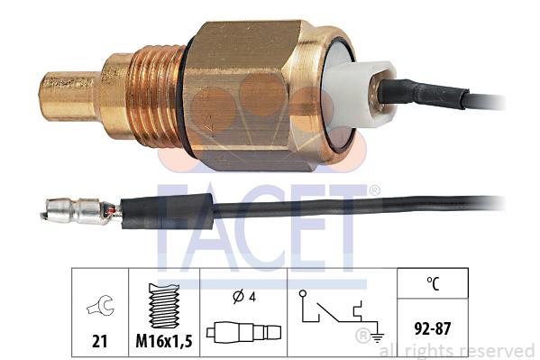 Interrupteur de temperature, ventilateur de radiateur FACET 7.5039 (X1)