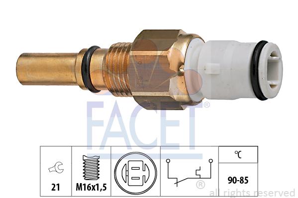 Interrupteur de temperature, ventilateur de radiateur FACET 7.5090 (X1)