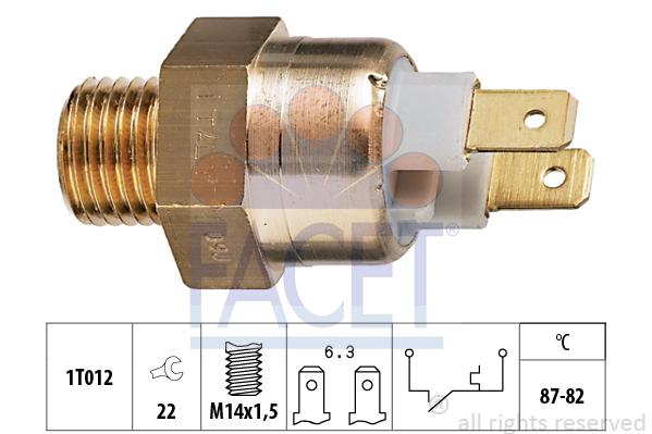 Interrupteur de temperature, ventilateur de radiateur FACET 7.5146 (X1)