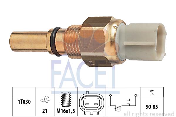 Interrupteur de temperature, ventilateur de radiateur FACET 7.5151 (X1)