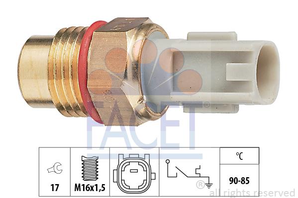 Interrupteur de temperature, ventilateur de radiateur FACET 7.5223 (X1)