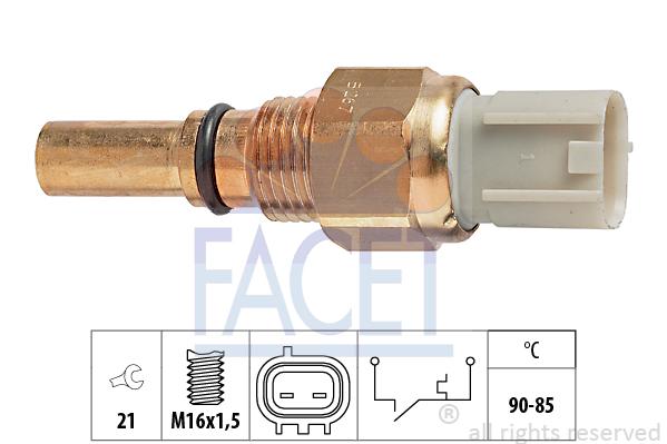 Interrupteur de temperature, ventilateur de radiateur FACET 7.5267 (X1)