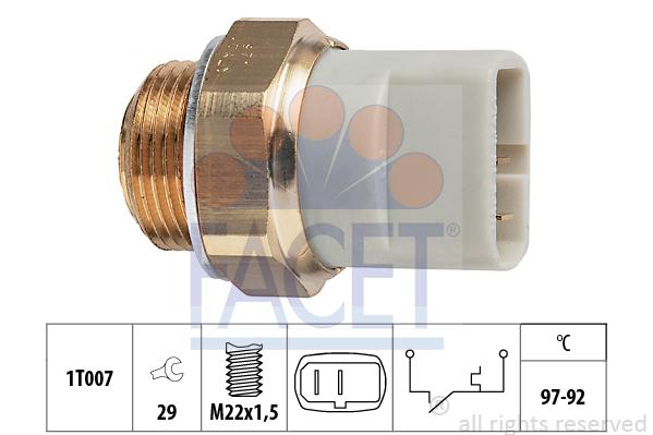 Interrupteur de temperature, ventilateur de radiateur FACET 7.5279 (X1)