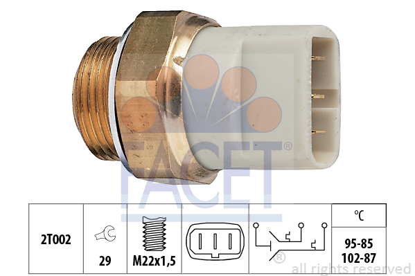 Interrupteur de temperature, ventilateur de radiateur FACET 7.5605 (X1)