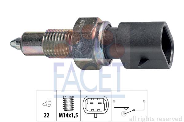 Contacteur de feu de recul FACET 7.6038 (X1)