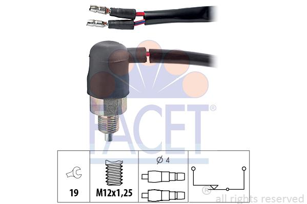 Contacteur de feu de recul FACET 7.6048 (X1)