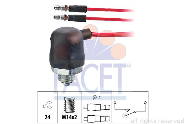 Contacteur de feu de recul FACET 7.6062 (X1)