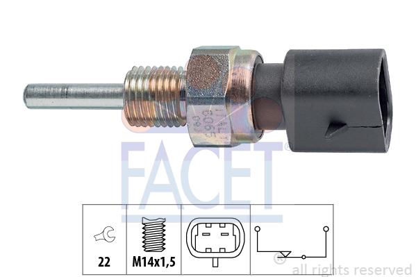 Contacteur de feu de recul FACET 7.6065 (X1)