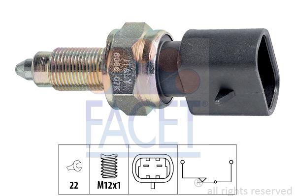 Contacteur de feu de recul FACET 7.6066 (X1)