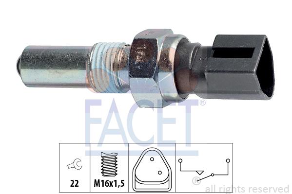 Contacteur de feu de recul FACET 7.6107 (X1)