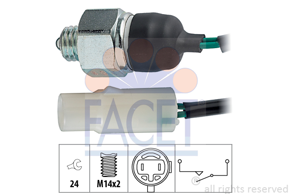 Contacteur de feu de recul FACET 7.6206 (X1)