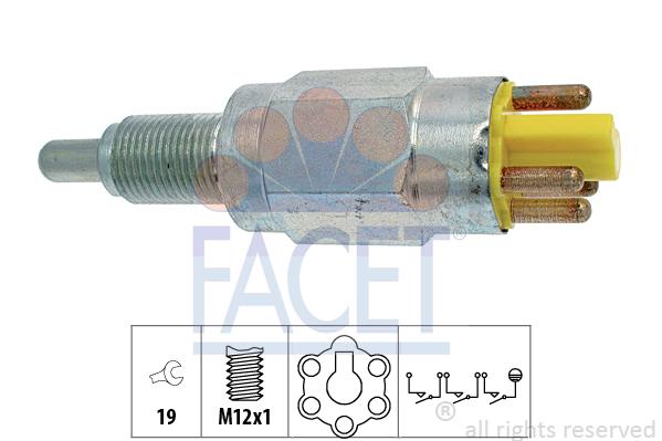 Contacteur de feu de recul FACET 7.6251 (X1)
