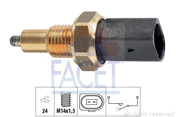 Contacteur de feu de recul FACET 7.6256 (X1)