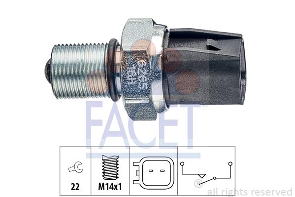 Contacteur de feu de recul FACET 7.6265 (X1)