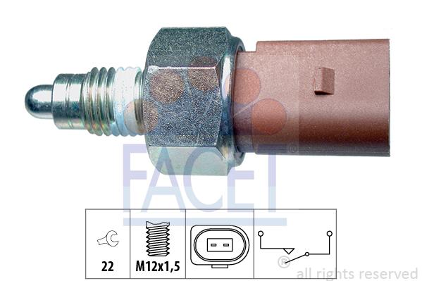 Contacteur de feu de recul FACET 7.6266 (X1)