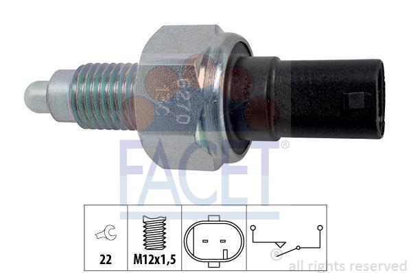 Contacteur de feu de recul FACET 7.6270 (X1)