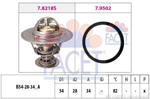 Thermostat/calorstat FACET 7.8218 (X1)
