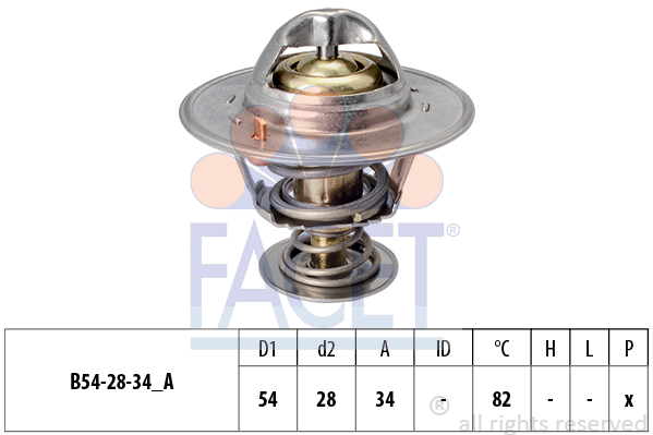Thermostat/calorstat FACET 7.8218S (X1)
