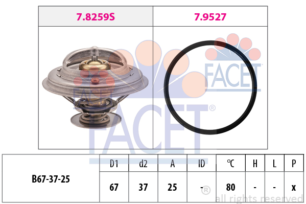 Thermostat/calorstat FACET 7.8259 (X1)