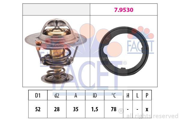 Thermostat/calorstat FACET 7.8267 (X1)
