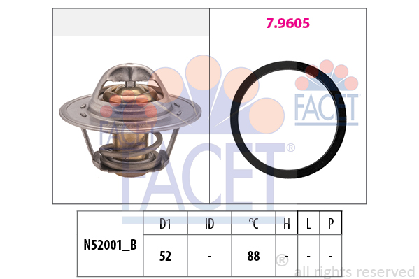 Thermostat/calorstat FACET 7.8312 (X1)