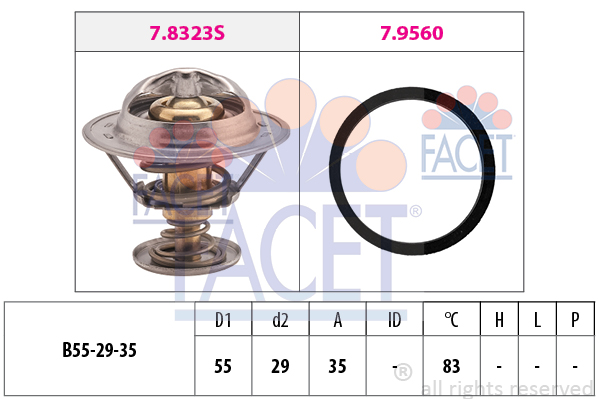 Thermostat/calorstat FACET 7.8323 (X1)