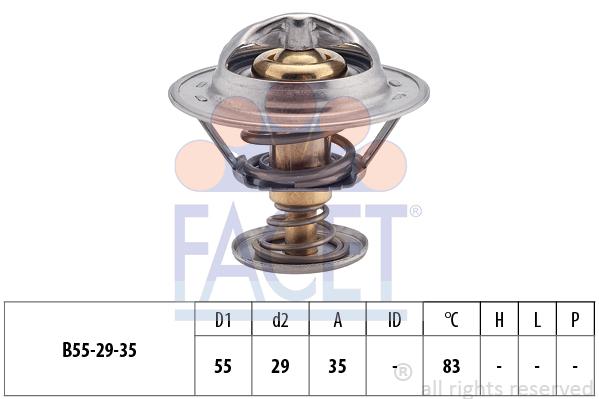 Thermostat/calorstat FACET 7.8323S (X1)