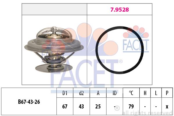 Thermostat/calorstat FACET 7.8333 (X1)