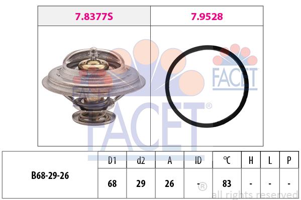 Thermostat/calorstat FACET 7.8377 (X1)