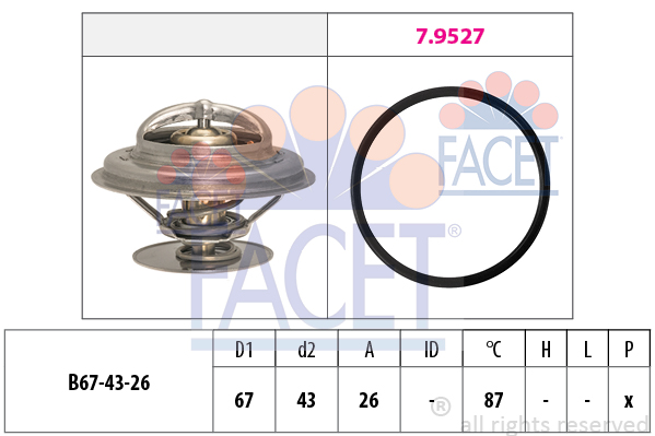 Thermostat/calorstat FACET 7.8385 (X1)