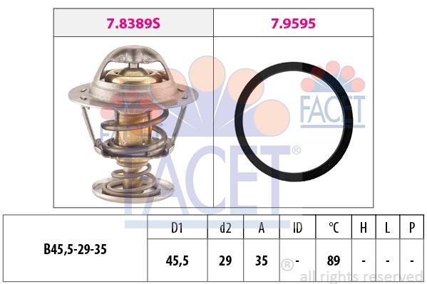 Thermostat/calorstat FACET 7.8389 (X1)