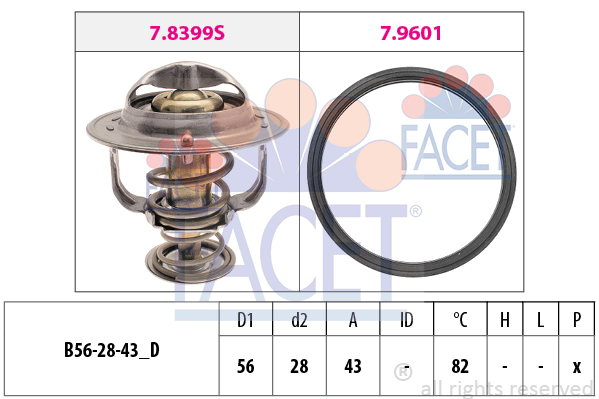 Thermostat/calorstat FACET 7.8404 (X1)