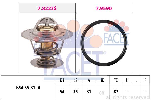 Thermostat/calorstat FACET 7.8432 (X1)