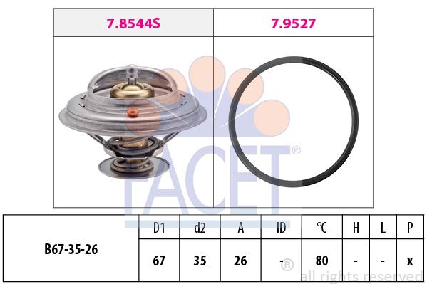 Thermostat/calorstat FACET 7.8544 (X1)